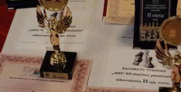 Iškilmingai ASU 90- metį pažymėjo Universiteto šachmatininkai
