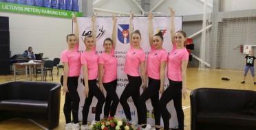 Sveikiname aerobinės gimnastikos sportininkus